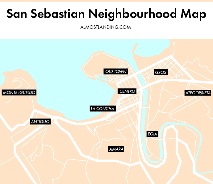 San Sebastian Neighbourhood Map