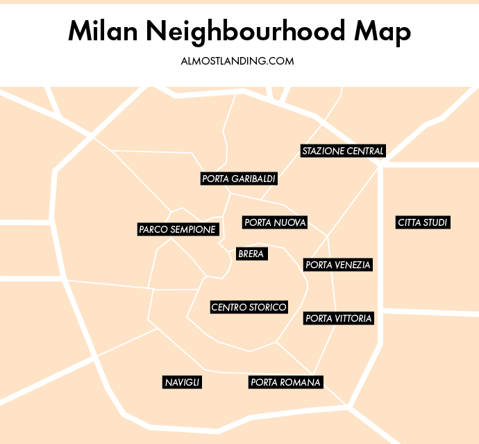Milan Neighbourhood Map
