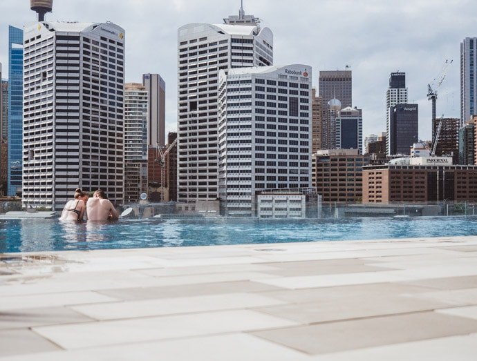 Swimming At Sofitel Darling Harbour