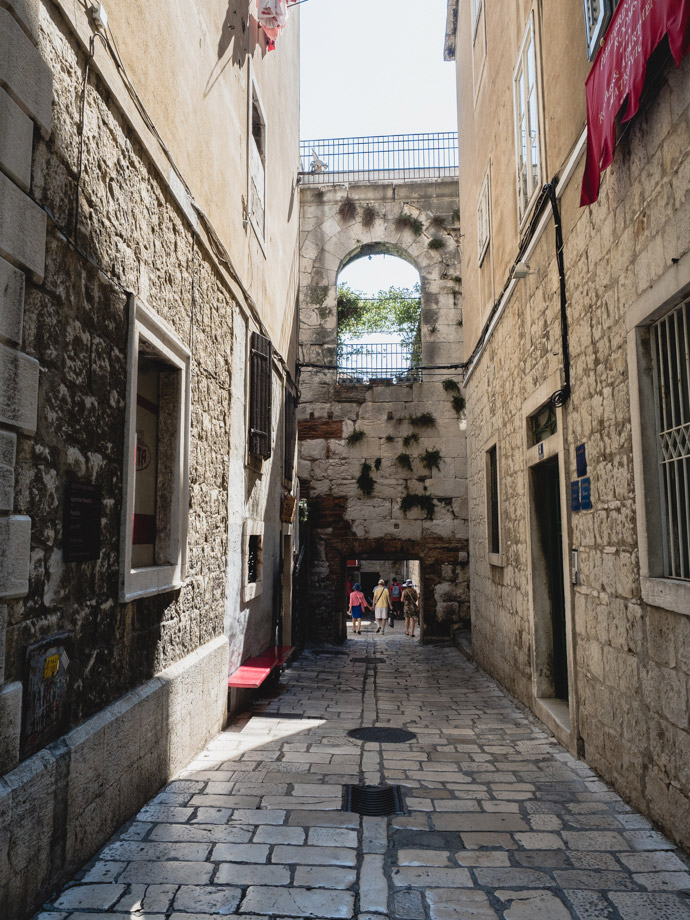 Old Town Streets Split Croatia