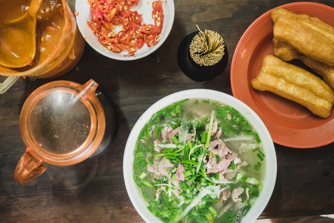 Pho and Banh Quay Pho Gia Truyen