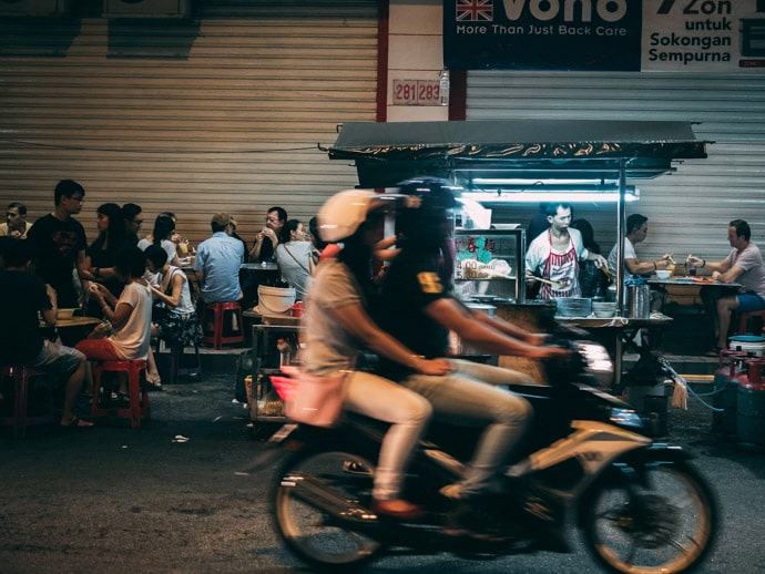Lebuh Chulia Night Market Wanton Mee Penang Street Food