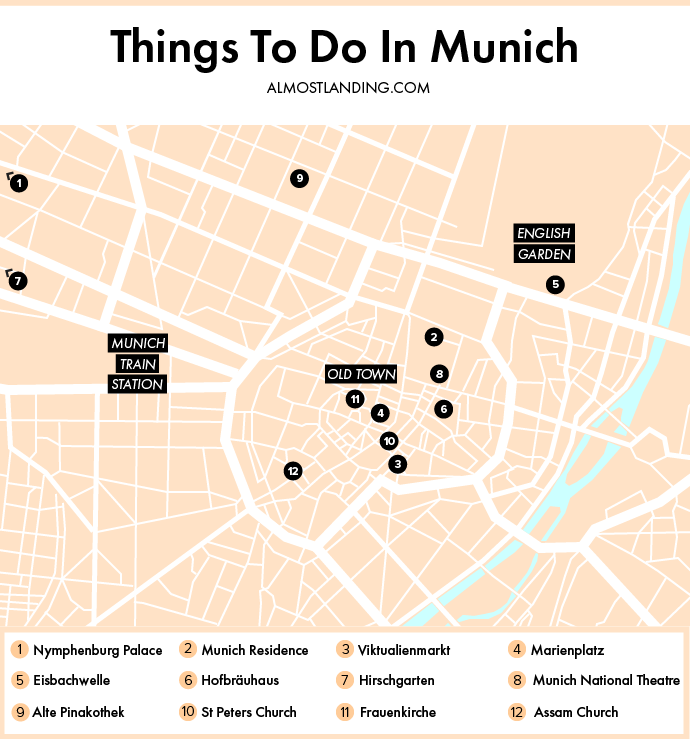 Map Of Things To Do In Munich