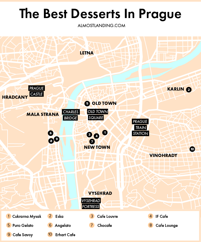 Best Desserts In Prague Map