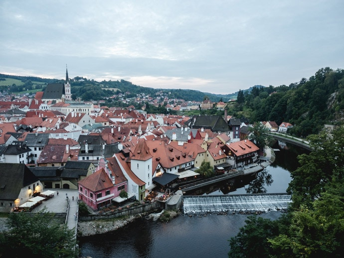 View Of Cesky Krumlov Town Czech Republic