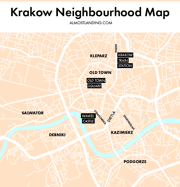 Krakow Neighbourhood Map