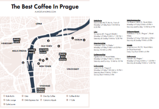 Prague Coffee Map Printable Image