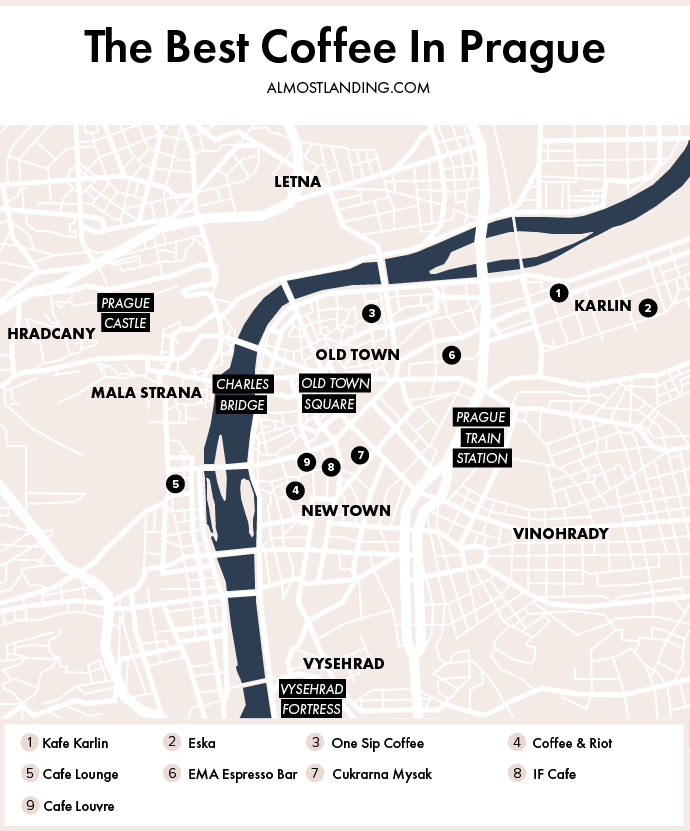 Prague Coffee Map