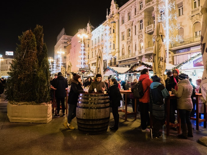 Ba Jelacic Square Christmas Market At Night