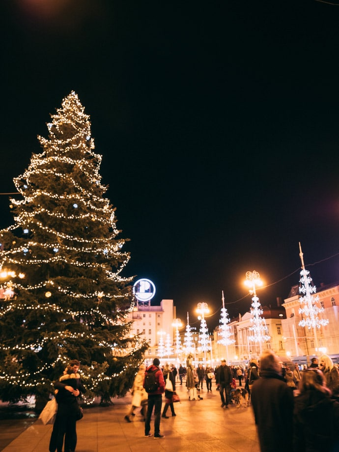 Ban Jelacic Square Christmas Tree