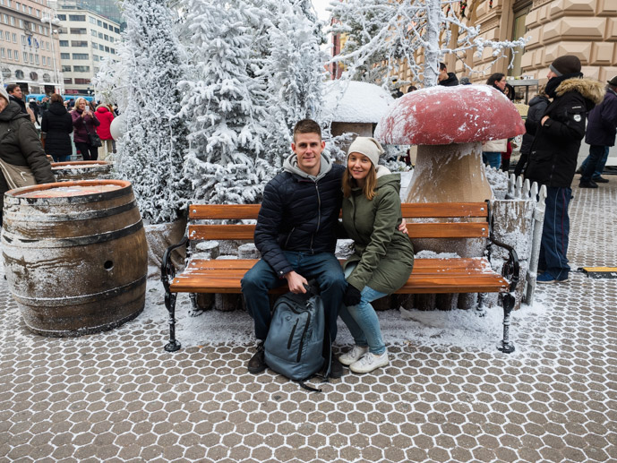Chris and Mandy at The Zagreb Christmas Markets
