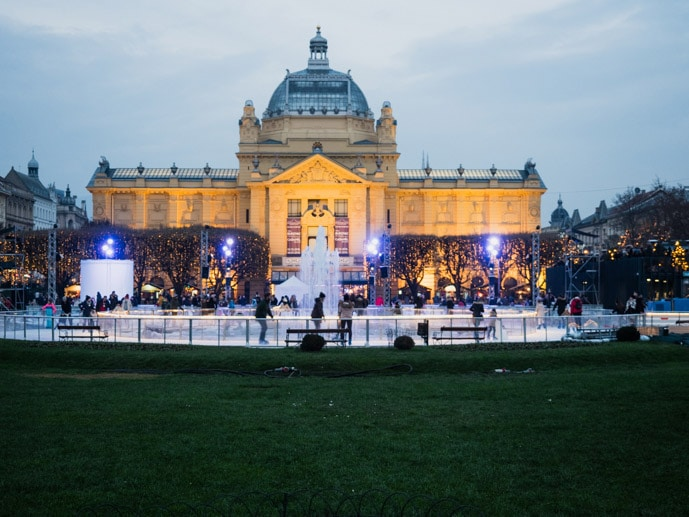 Ice Skating King Tomislav Park Zagreb