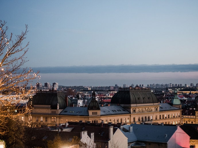 View Of Zagreb At Christmas