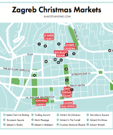 Zagreb Christmas Market Map Printable Image
