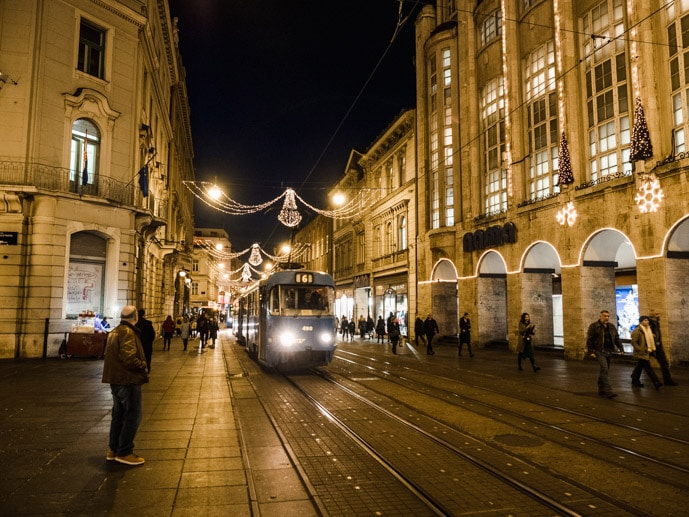 Zagreb Streets At Christmas