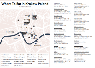 Where To Eat In Krakow Map Printable
