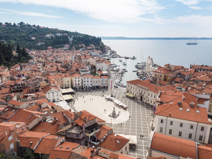 View Of Tartini Square Piran