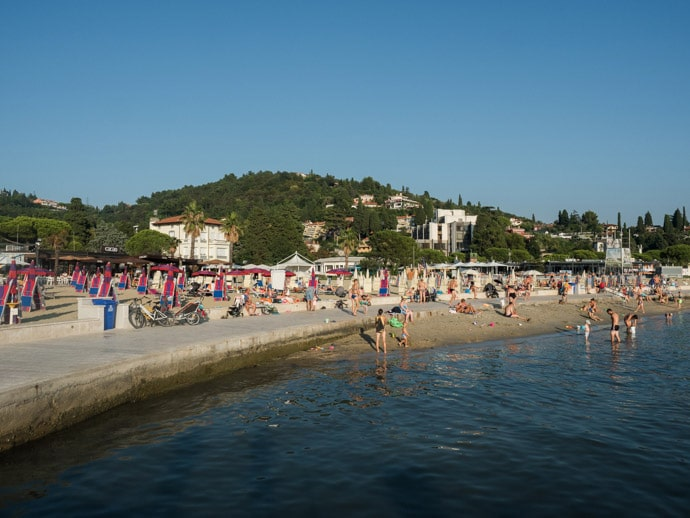Walk To Portoroz From Piran Slovenia