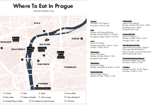Prague Food Map Printable Image