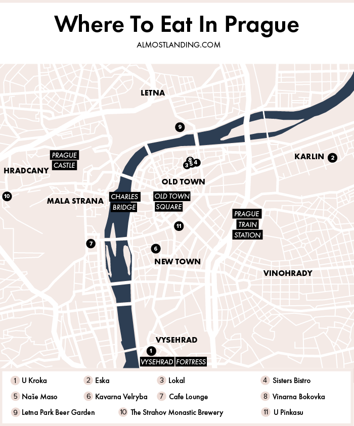 Prague Food Map