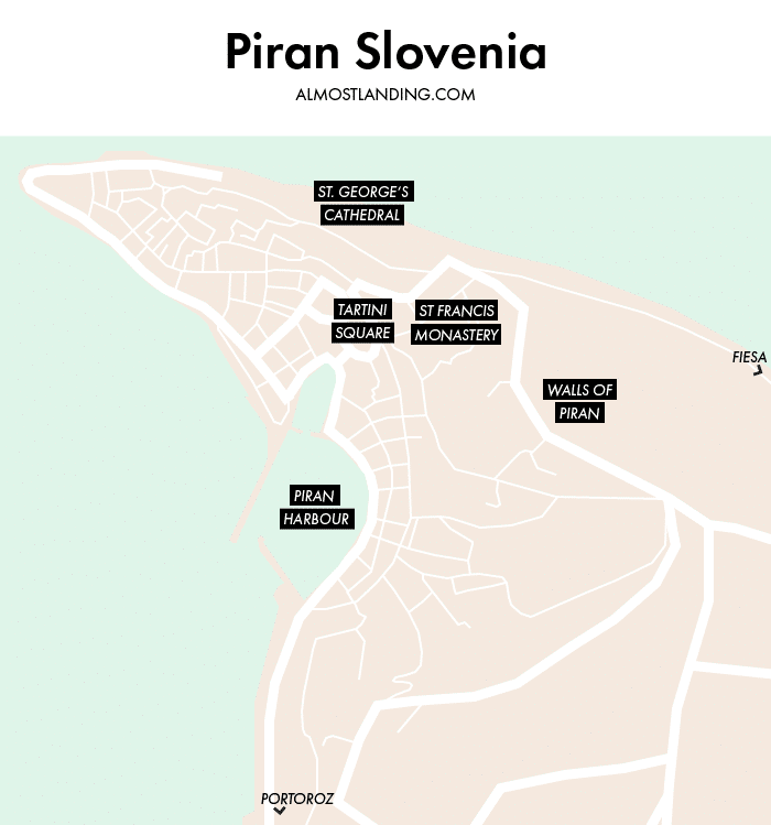Where To Stay In Piran Map