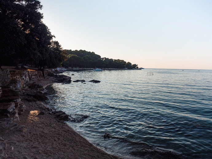 Rovinj Beaches Lone Pine
