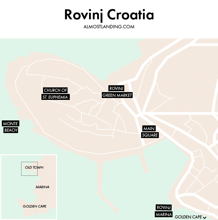 Rovinj Croatia Map