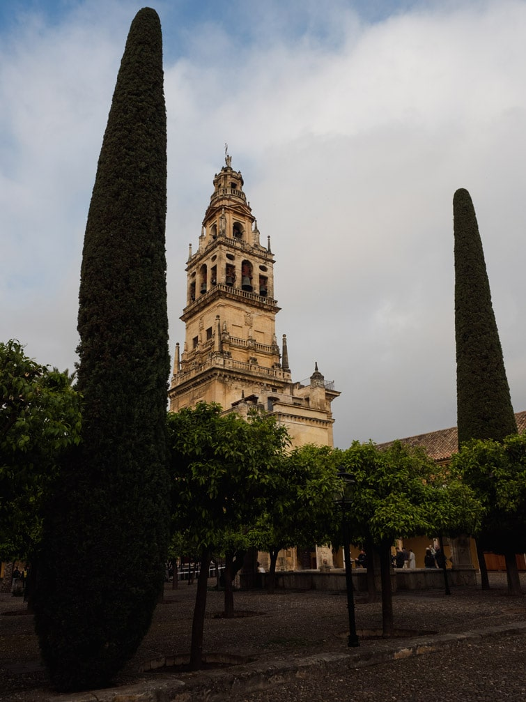 Bell Tower And Patio Of The Oranges Mezquita