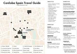 Cordoba Travel Guide Printable Image