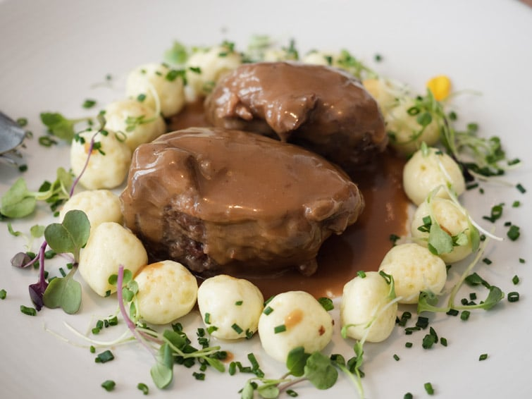 Iberian Pork Cheeks With Gnocchi Regadera