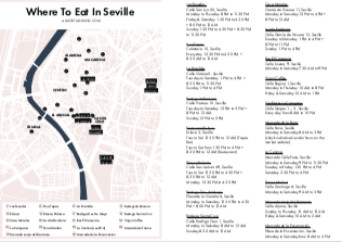 Seville Food Map PDF image