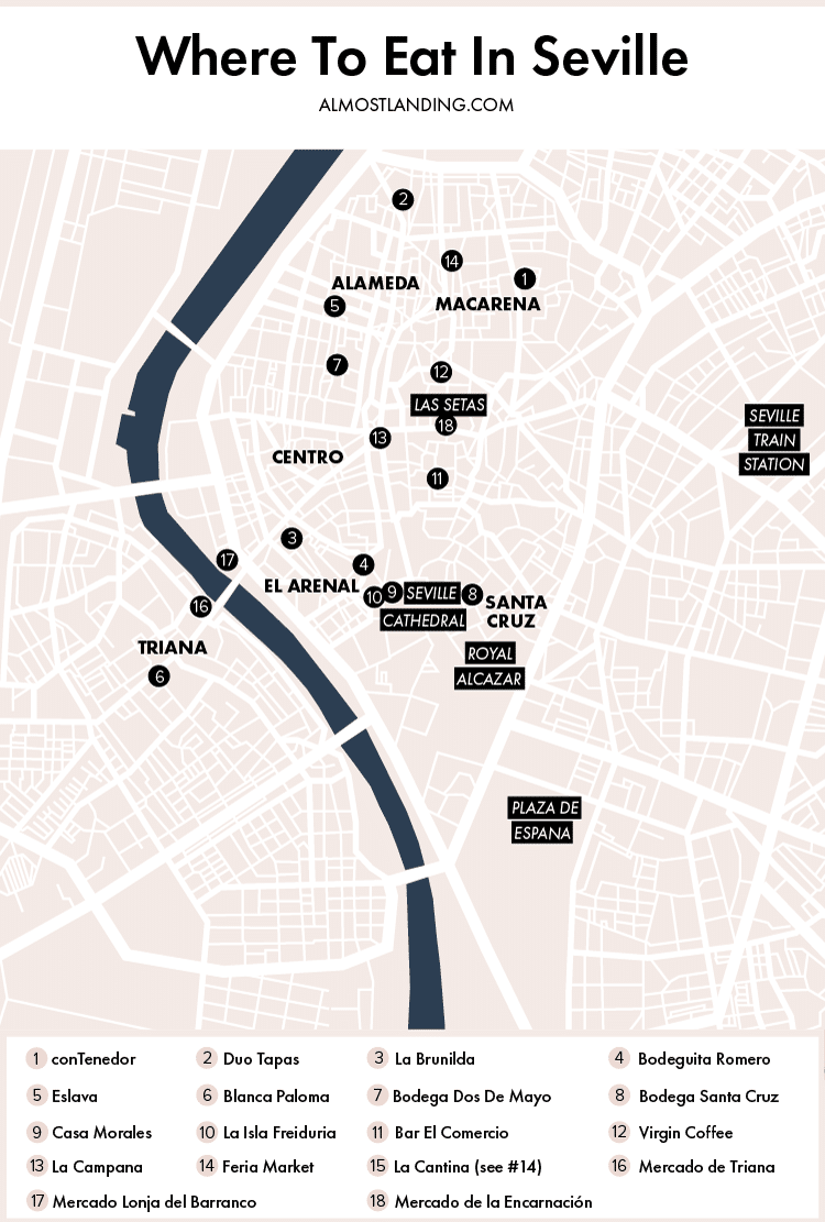 Seville Food Map