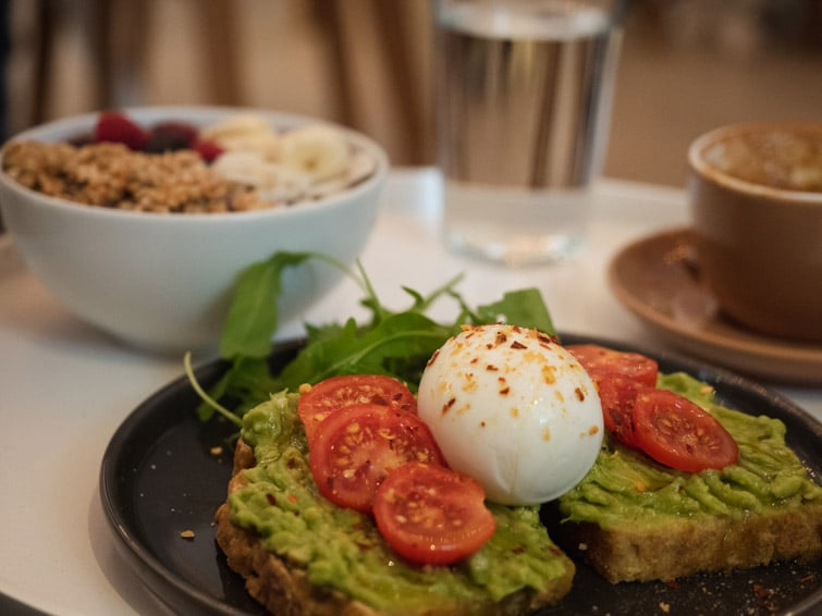 Avocado Toast And Acai Bowl Breakfast In Zagreb Croatia