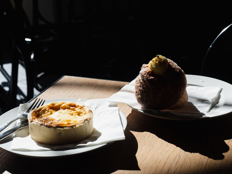 Bakery Breakfast In Zagreb Quiche And Cruffin