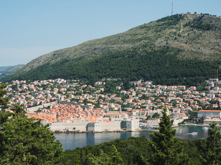 View Of Dubrovnik Lokrum Island
