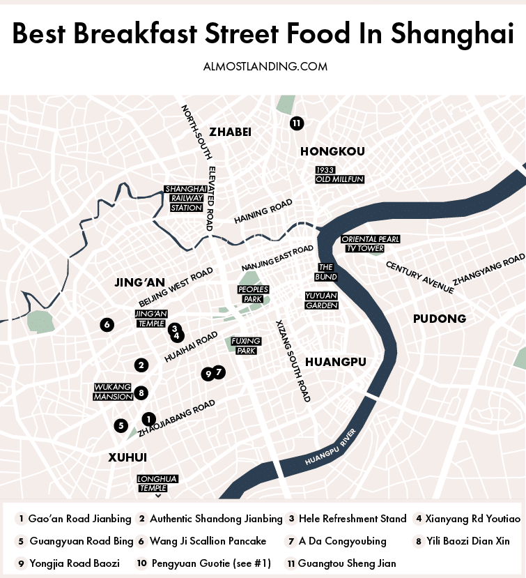 Best Breakfast Street Food In Shanghai China Map