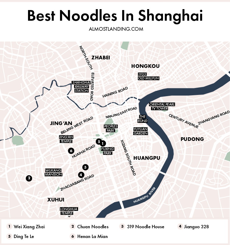 Best Noodles In Shanghai Map
