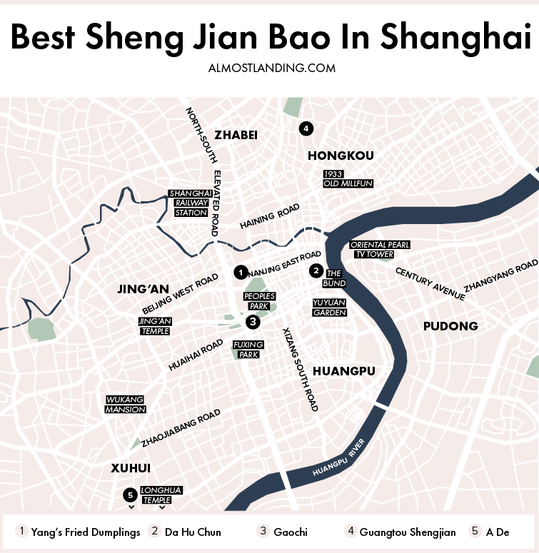 Best Sheng Jian Bao In Shanghai Map