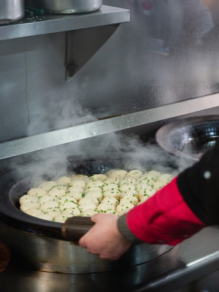 Cooking Sheng Jian Bao Yangs