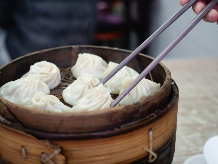Eating Xiao Long Bao At Nanjing Tang Bao Shanghai