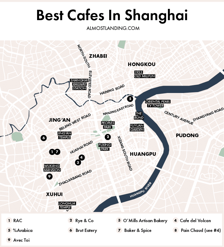Best Cafes In Shanghai Map