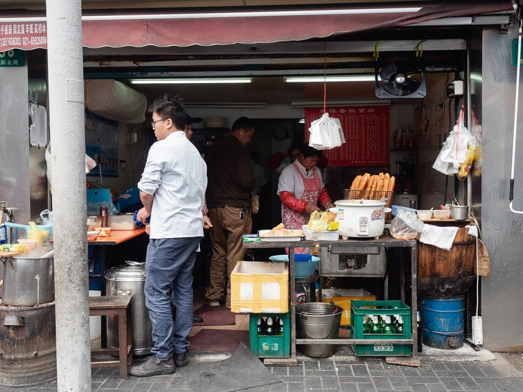 Youtiao Street Food Breakfast Shanghai