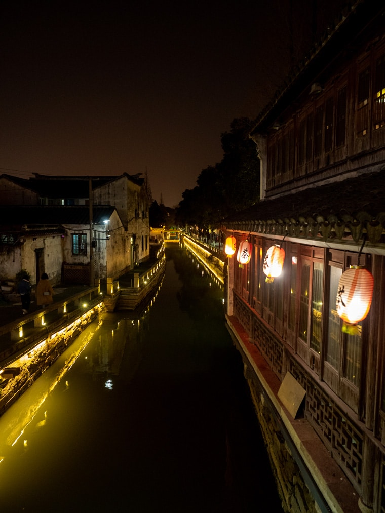 Pingjiang Street At Night