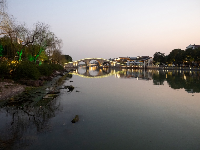 Suzhou Canal At Night