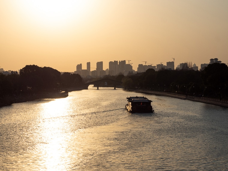Suzhou Canal At Sunset