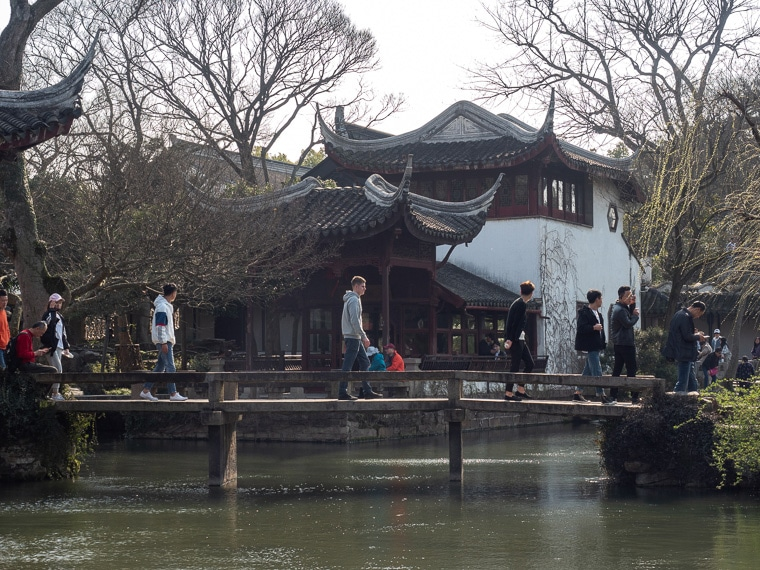 Visiting A Chinese Garden In Suzhou China